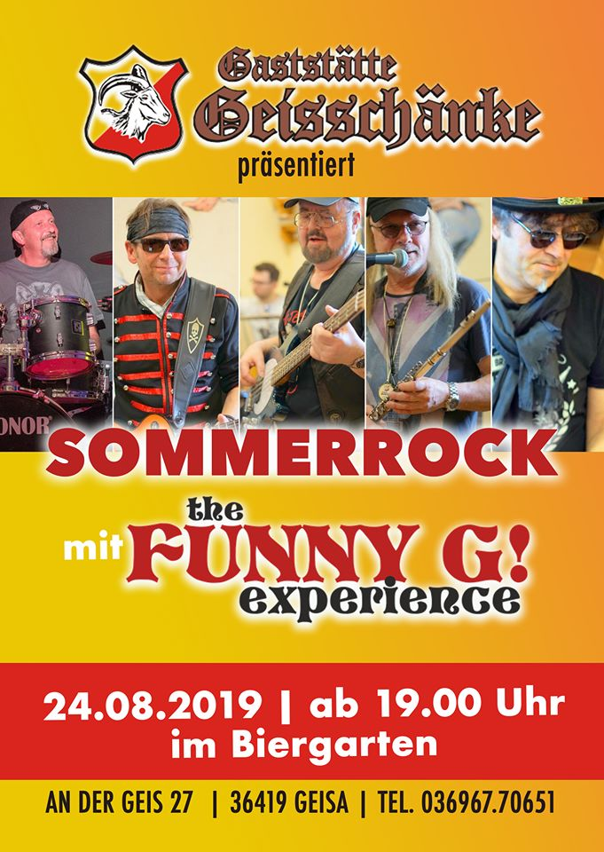 The FUNNY G  experience - Woodstock Tribute Band - Classic